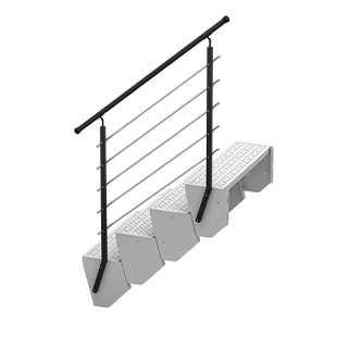 Schody modułowe barierki nowoczesne