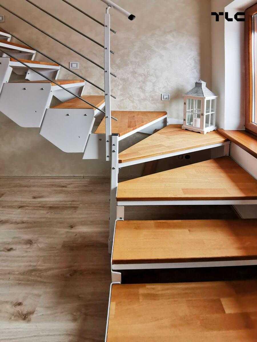 schody modułowe białe